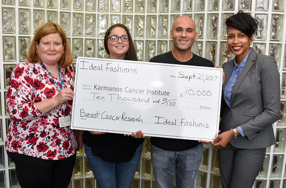 ResultCo DBA Ideal Fashions has donated 10,000 dollar to the Karmanos Cancer Institute