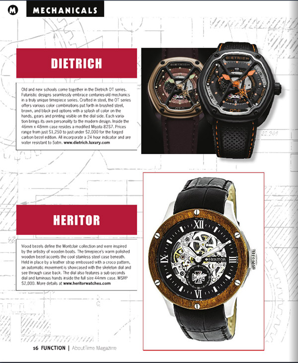 About Time April 2016 Edition - Heritor Montclair Mens Watch