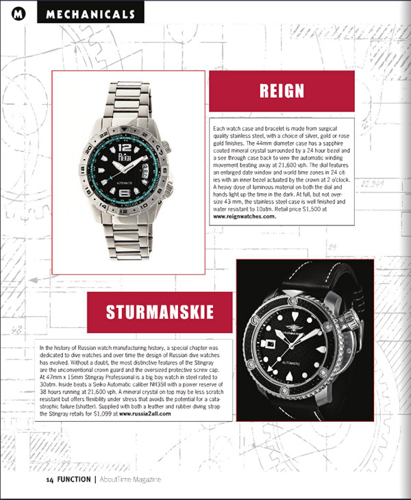 About Time April 2016 Edition - Reign Caruso Mens Watch