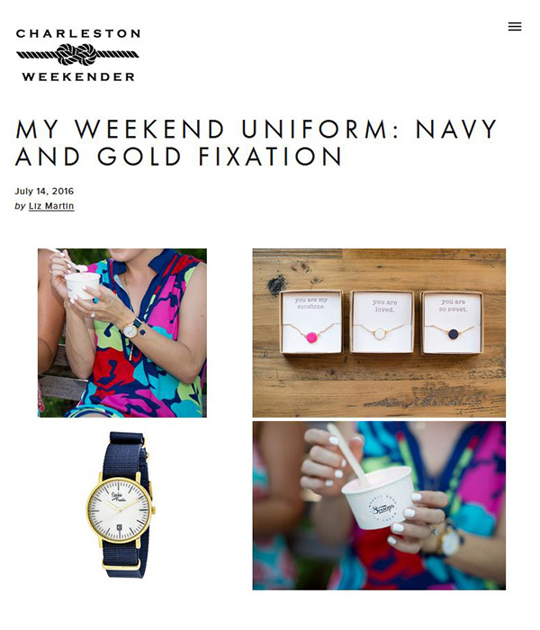 The Charleston Weekender - My Weekend Uniform: Navy and Gold Fixation