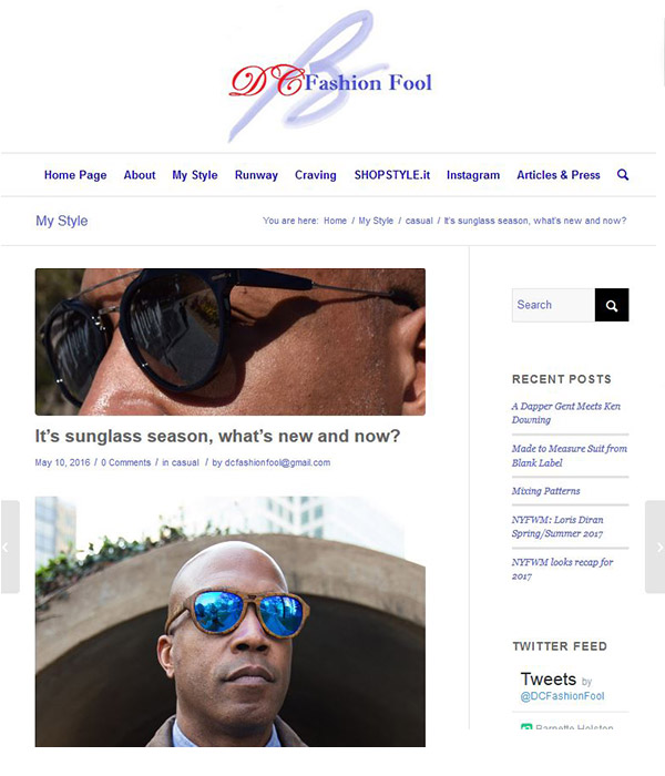 DC Fashion Fool - It's sunglass season, what's new and now?