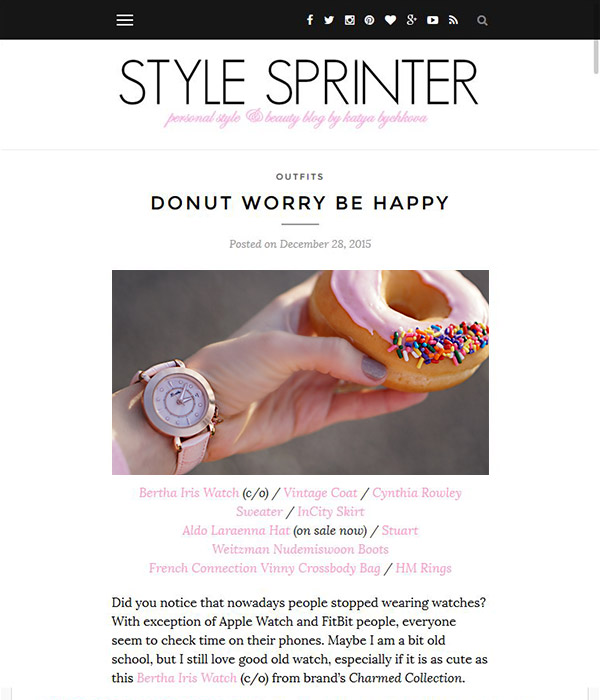 Style Sprinter - Donut worry be happy