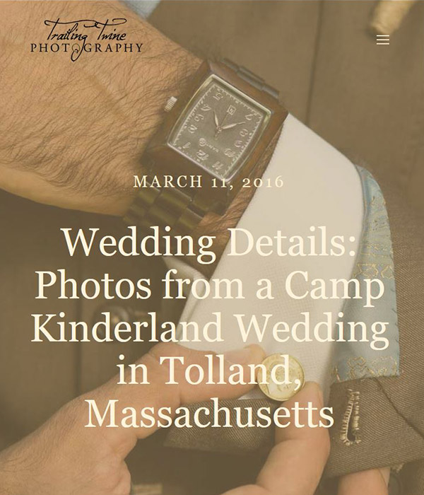 Trailing Twine - Wedding Details: Photos from a Camp Kinderland Wedding in Tolland, Massachusetts