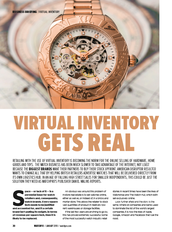 Virtual inventory gets real for the watch industry
